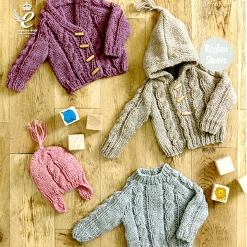 Knitting Patterns-New Born- 4 Years Chunky Raglan Sleeve