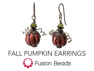Learn how to make the Fall Pumpkin Earrings by Fusion Beads