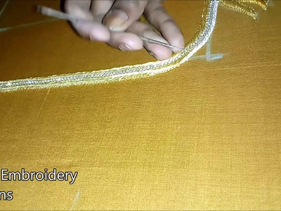 Maggam work blouses buy online | basic embroidery stitches | simple maggam work blouse designs