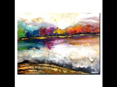MAGICAL LANDSCAPE ABSTRACT PAINTING, EASY way to paint an ABSTRACT ART