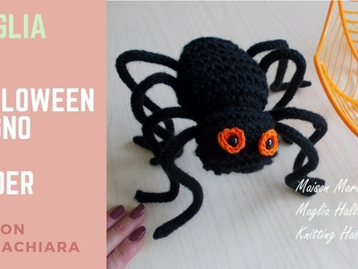 Maglia | Halloween Pupazzo Ragno - Knitting How to knit Halloween Spider Puppets
