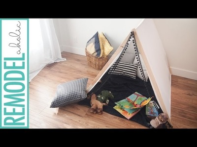 Make a No-Sew Kids' Tent in Under 1 Hour