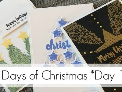 Mixing Holiday and Normal Stamps - Three Card Styles!