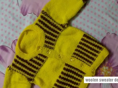 New sweater designs for kids or baby in hindi | two colour sweater,easy sweater design