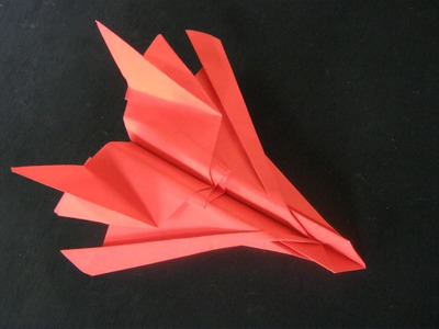 Origami Tutorial -How To Make A Paper Airplane.Model;-Fighter Jet