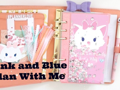 Pink and Blue Plan With Me || Kikki.K with Sew Much Crafting Inserts