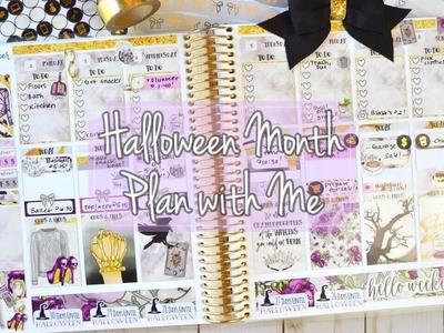 Plan with Me featuring GP Sticker Studio. Halloween Month!