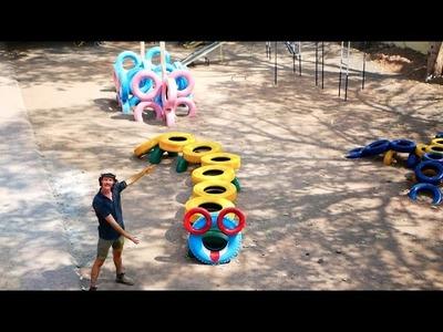 Playground Ideas - DIY Crazy Caterpillar