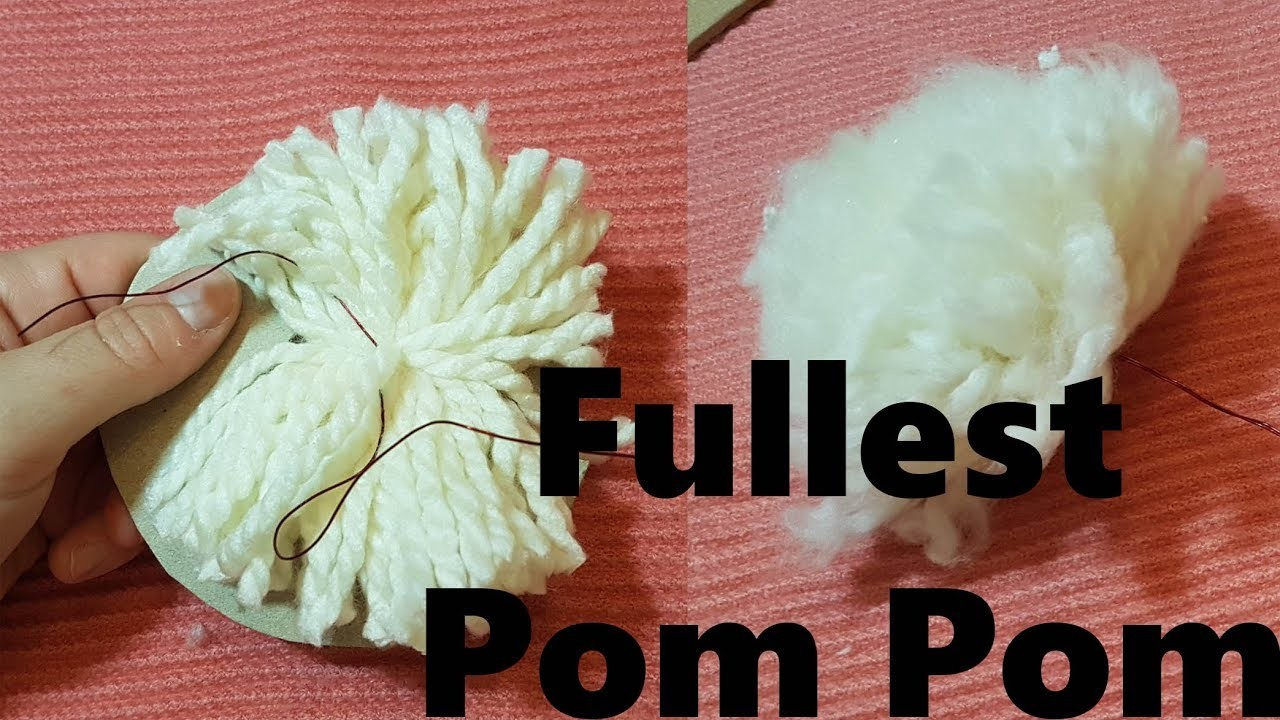#Protip How to make the best pom pom full fluffy and beautiful