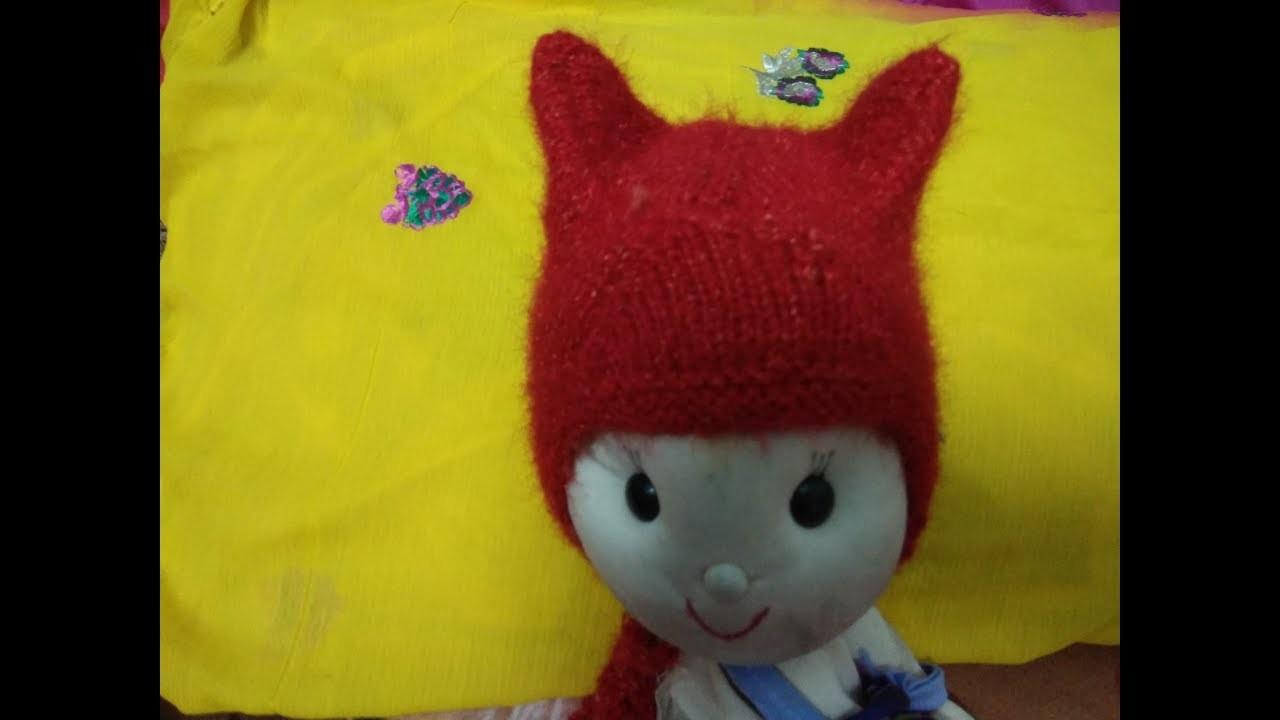 Rabbit cap for babies in hindi