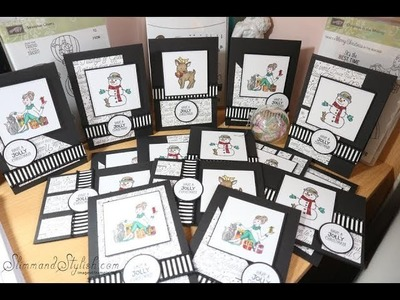 Stampin' Up! One Sheet Wonder - Christmas Cards .  15 cards from one 12x12 sheet