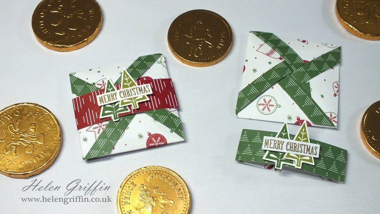 11th Day of Christmas   Stampin'Up!  Mini Pinwheel Pouches.Cards