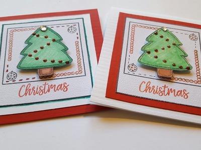 5 x 5 MINI CHRISTMAS TREE CARD   MAYMAY MADE IT DESIGN TEAM