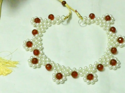 #63 How to make Pearl Beaded Necklace Set || Diy || Jewellery Making