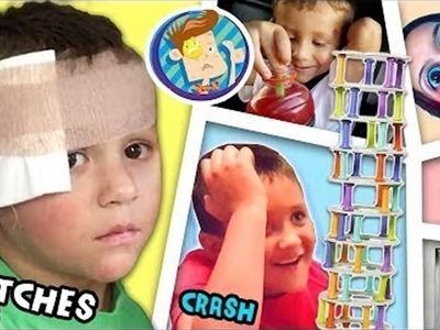 CHASE GETS STITCHES!! Emergency Room Visit. Crash Board Game (FUNnel Vision Vlog)