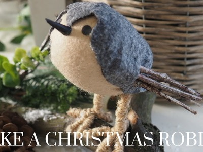 Christmas DIY & Decor Challenge | Make a Christmas Robin