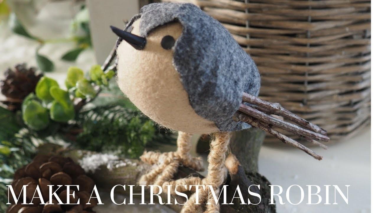 Christmas DIY & Decor Challenge | Make a Christmas Robin