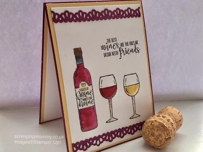 Coffee and wine ??? . fun card tutorial