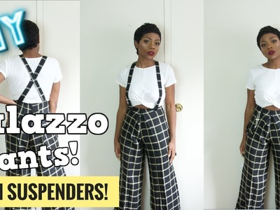 DIY FINALLY!!! HOW I MADE PALAZZO PANTS WITH SUSPENDERS | INSTAGRAM STYLE