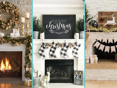 ❤ DIY Shabby chic style Christmas Mantle decor Ideas❤   Christmas Fireplace decor   Flamingo Mango 