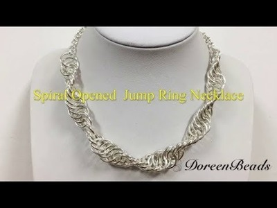 DoreenBeads Jewelry Making Tutorial - How to Make Coolest Spiral Opened Jump Ring Necklace