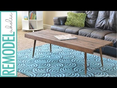 Easy Building Tutorial: Mid-Century Modern Slat Coffee Table or Bench