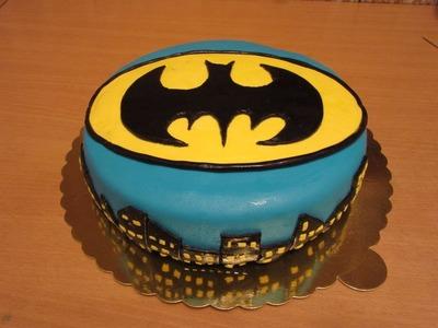 Fondant Cake Decorating For Beginners - BATMAN FONDANT CAKE!