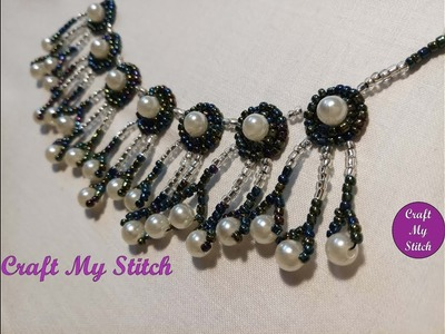 Hand Embroidery | Bead danglers for neckline