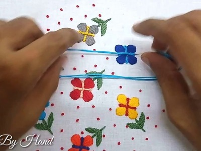 Hand Embroidery: Satin Stitch Embroidery | Satin Stitch Flower | Satin Stitch And French Knots