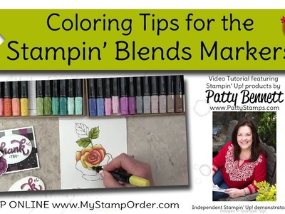 How to Color and Blend with Stampin' Blends from Stampin' UP! with Patty Bennett