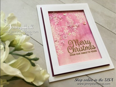 How to create the Emboss Resist cardmaking technique using Stampin Up products with Jenny Hall