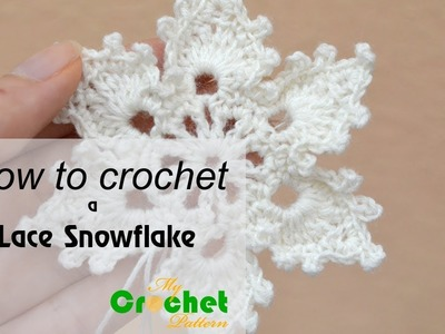 How to crochet a Lace Snowflake - Free crochet pattens