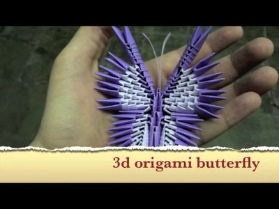 How to make a 3d origami butterfly, tutorial coming soon