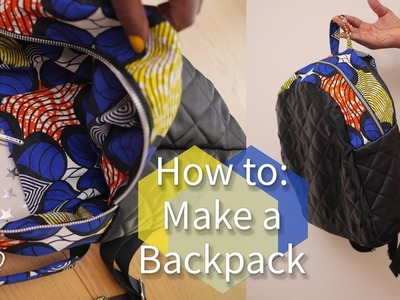 HOW TO: MAKE A BACKPACK #BACKTOSCHOOL  | KIM DAVE