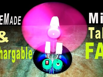 How to Make a Mini Rechargeable Electric Table Fan at Home for Kids