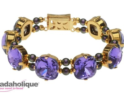How to Make a Swarovski Crystal Bracelet with Cushion Stones and Settings