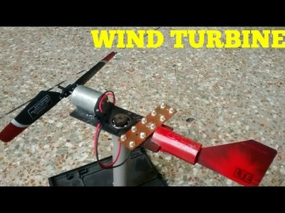 HOW TO MAKE A WIND TURBINE, PRODUCE ELECTRICITY FROM WIND