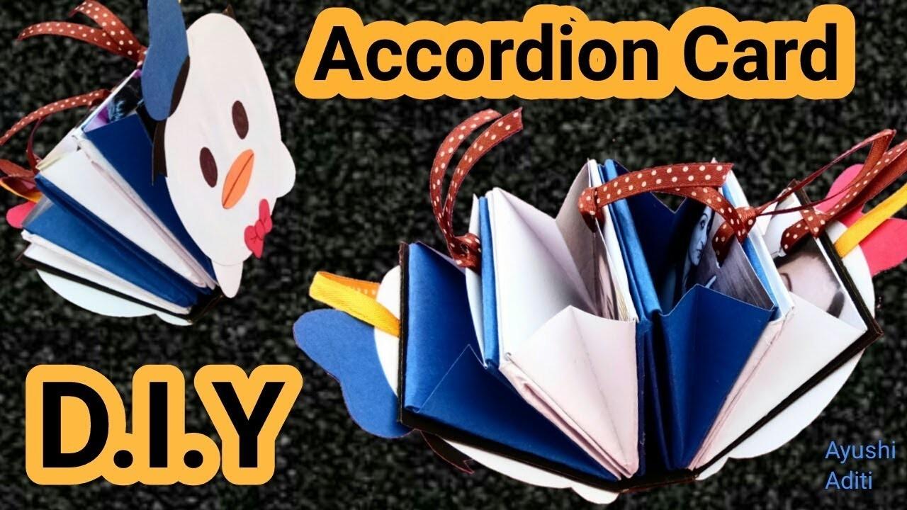 How to make Accordion Card | Christmas Card Ideas | Photo Card Maker |