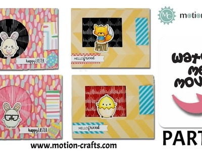 How to make an Animated Card | Animation Background Stamps and Die Cut | Motion Crafts | Part 2