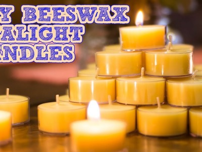 How To Make Beeswax Candles   Coconut Oil & Scented Tealights Tutorial   Damsels In DIY
