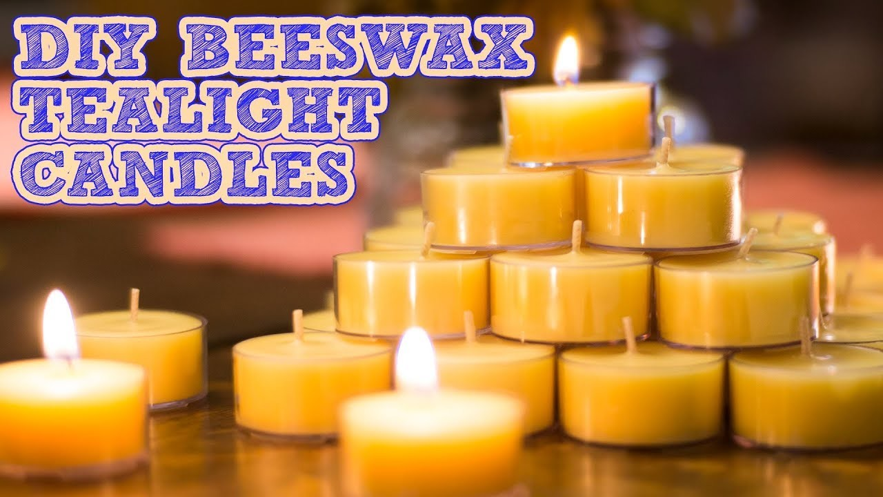How To Make Beeswax Candles | Coconut Oil & Scented Tealights Tutorial | Damsels In DIY
