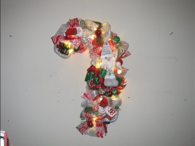 How to make Carmen's Poof Style Santa Claus CandyCane Wreath