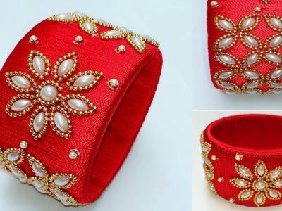 How To Make Designer Bangle. Silk Thread Designer Bridal Bangle.Designer kada festive collection
