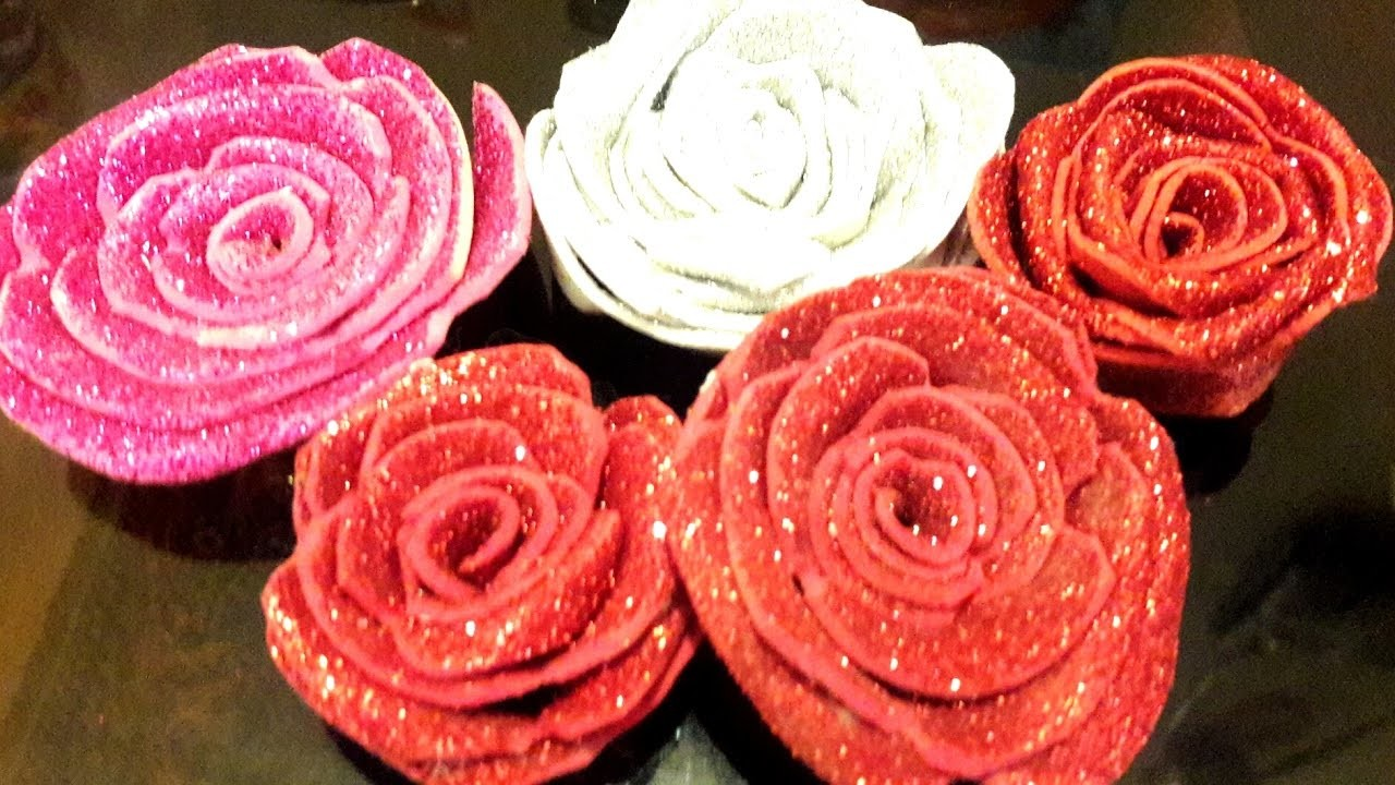 How to Make DIY roses with glider glue Foaming sheet