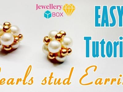 How To Make Pearl Stud Earrings | Easy Tutorial Video