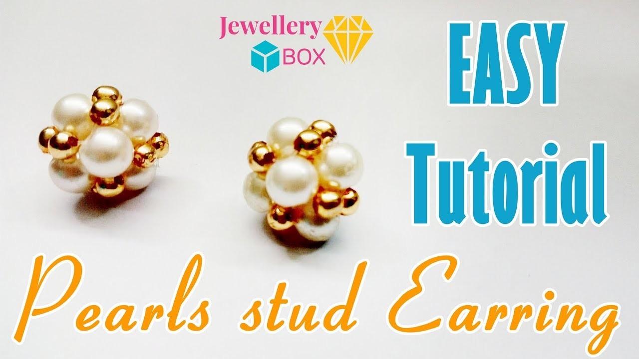 How To Make Pearl Stud Earrings   Easy Tutorial Video