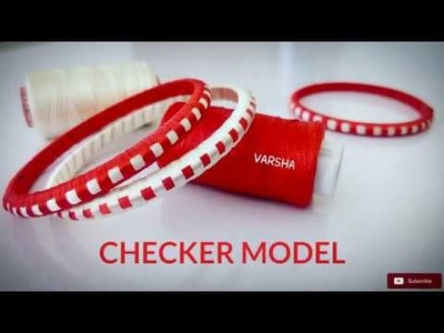 How To Make Silk Thread Bangles Checker Model | Silk Thread Bangles |