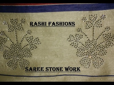 How to make stone work in saree