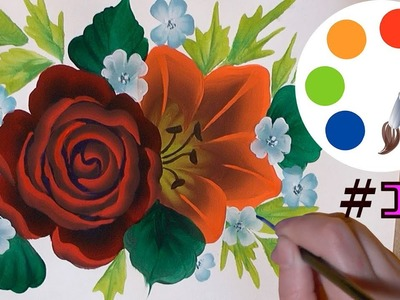 How to paint a Rose and a Lily, part 1, irishkalia