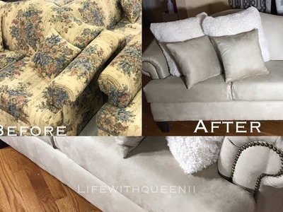HOW TO REUPHOLSTER A COUCH.SOFA Part 1 - LifeWithQueenii